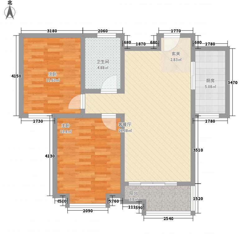 万福馨苑4.00㎡21#-27#楼标准层N2户型3室2厅2卫1厨