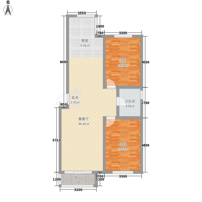 博隆金水湾家园87.73㎡博隆金水湾家园户型图户型图2室2厅1卫户型2室2厅1卫