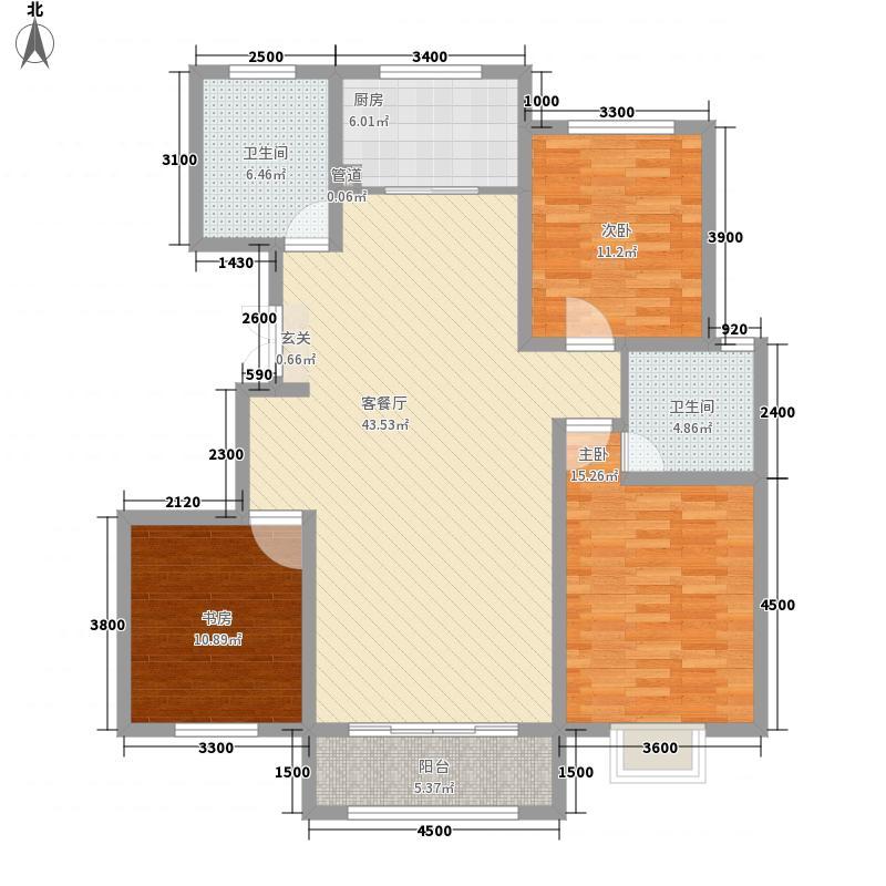 天疆骊城141.50㎡9#楼D2户型3室2厅2卫1厨