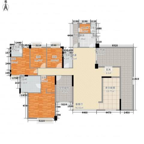 海畔嘉苑4室1厅4卫1厨274.00㎡户型图