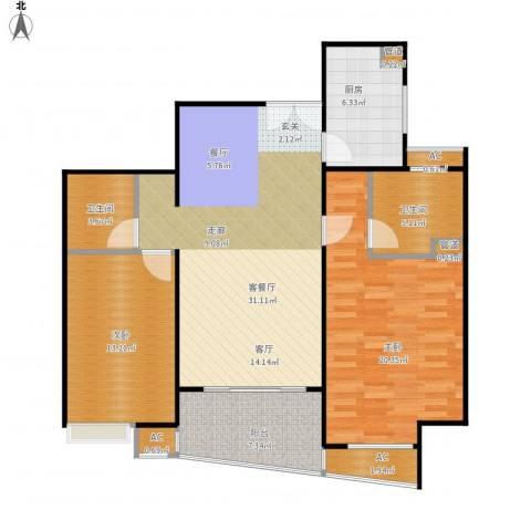 蓬莱家园(5号楼)2室1厅2卫1厨123.00㎡户型图
