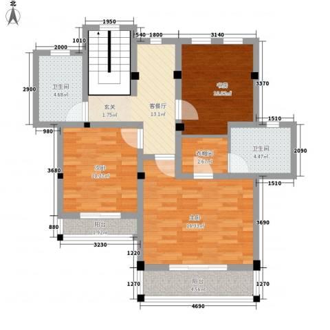 玖岛梦3室1厅2卫0厨102.00㎡户型图