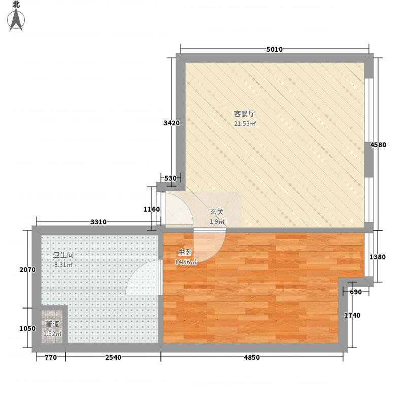 新世界名泷1室1厅1卫0厨63.00㎡户型图