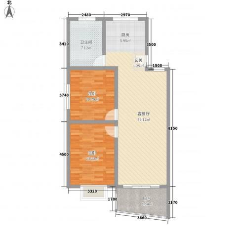 益明苑2室1厅1卫0厨104.00㎡户型图