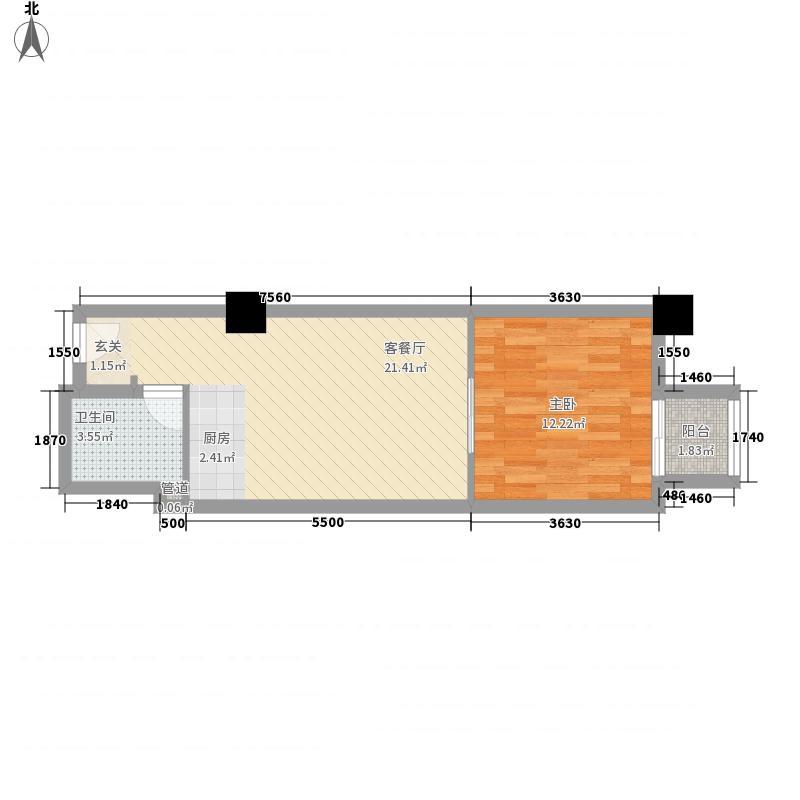 万都阿波罗56.58㎡户型1室