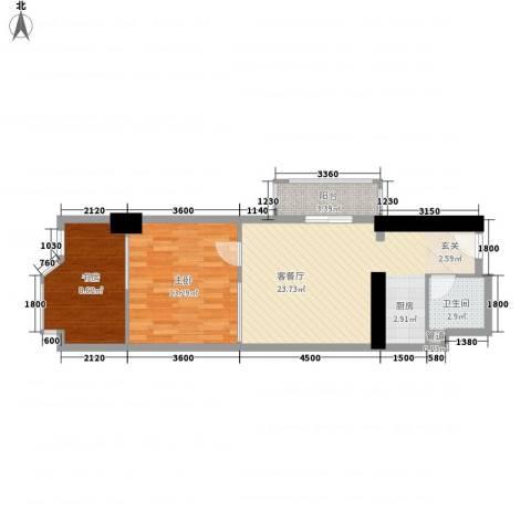 万都阿波罗2室1厅1卫0厨51.61㎡户型图
