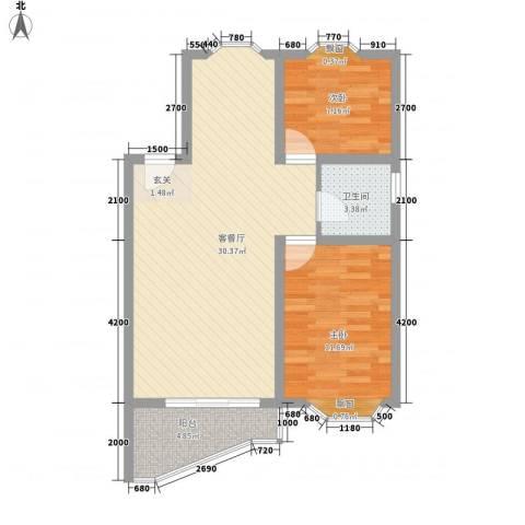 凯宏苑2室1厅1卫0厨70.00㎡户型图