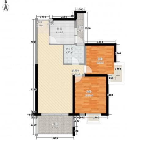 世纪城龙祺苑2室0厅1卫1厨72.76㎡户型图