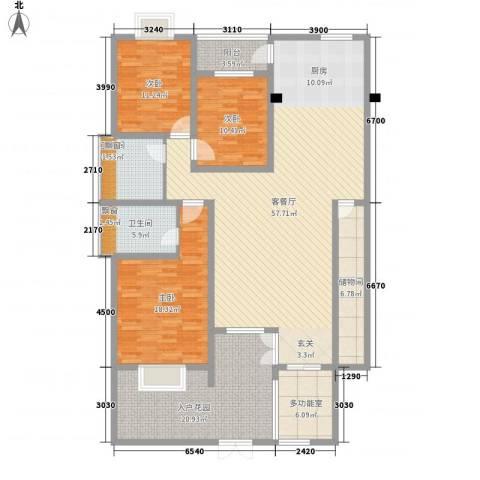 十里江南3室1厅2卫0厨147.18㎡户型图