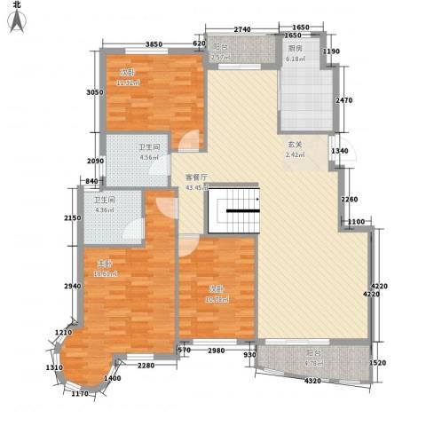 太平洋住皇别墅3室1厅2卫1厨118.47㎡户型图