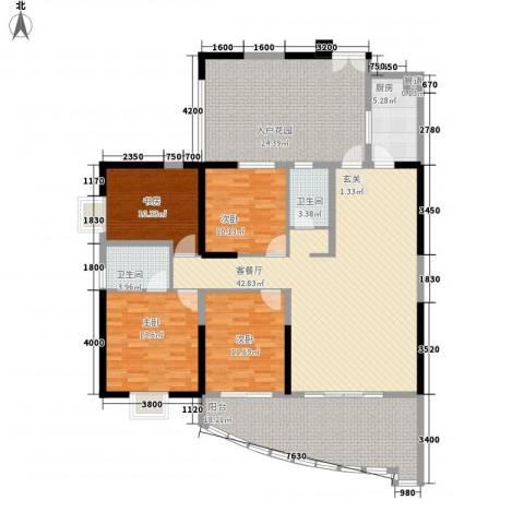 海湾新城4室1厅2卫1厨202.00㎡户型图