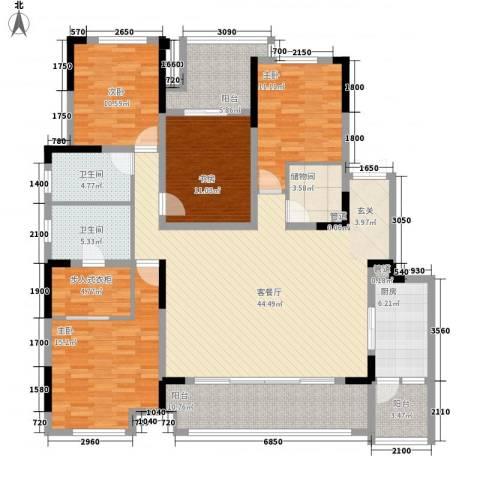 约克郡北区4室1厅2卫1厨198.00㎡户型图