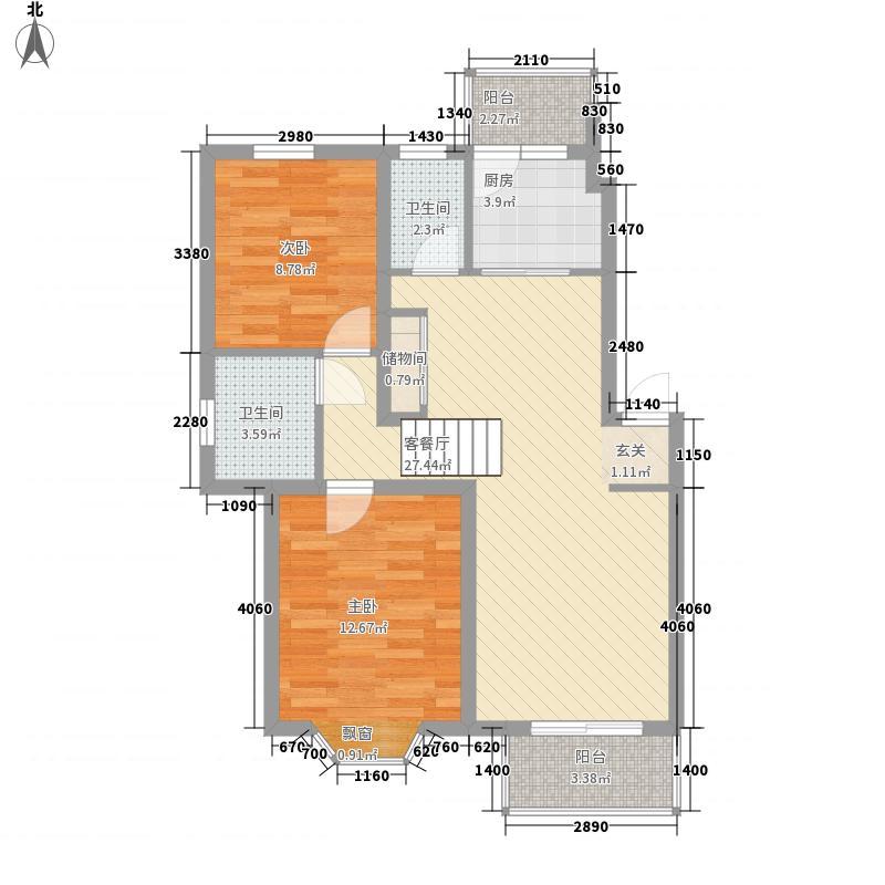 上大阳光乾泽园94.04㎡上大阳光乾泽园户型图上海上大阳光―乾泽园二期户型图2室2厅2卫1厨户型2室2厅2卫1厨