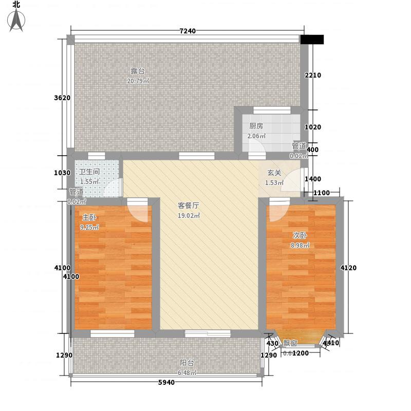 银龙康城99.00㎡银龙康城户型图F户型两室一厅一卫2室1厅1卫1厨户型2室1厅1卫1厨
