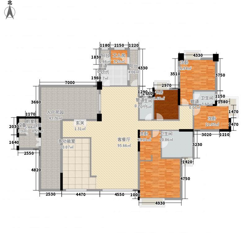海畔嘉苑265.53㎡海畔嘉苑户型图10栋偶数层B025室2厅户型5室2厅