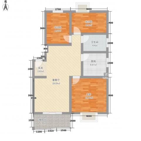 同创・九龙盛世园1室1厅1卫1厨94.00㎡户型图