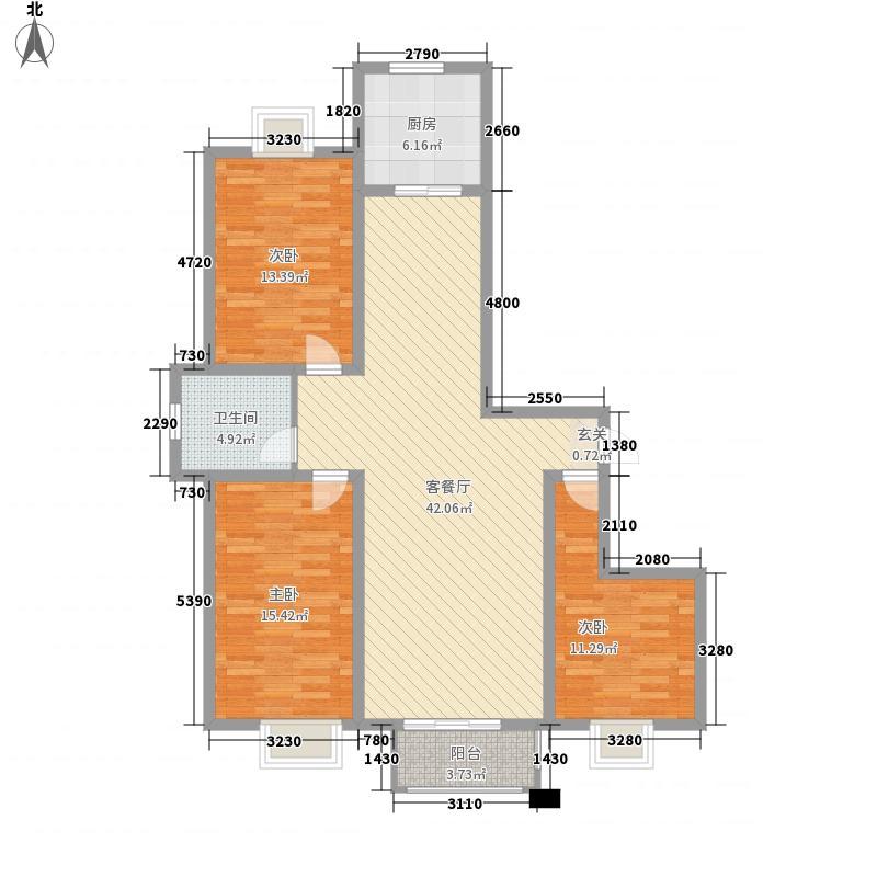 天嘉人和里3室1厅1卫1厨138.00㎡户型图