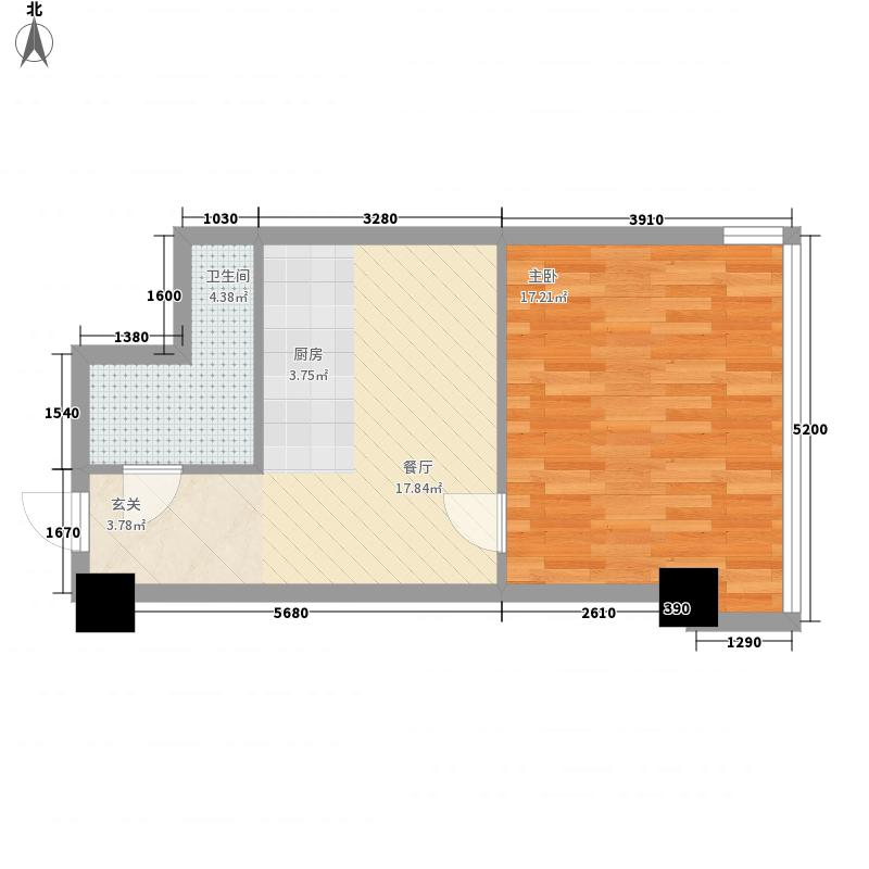 苏宁生活广场63.00㎡A栋、B栋B户型1室1厅1卫
