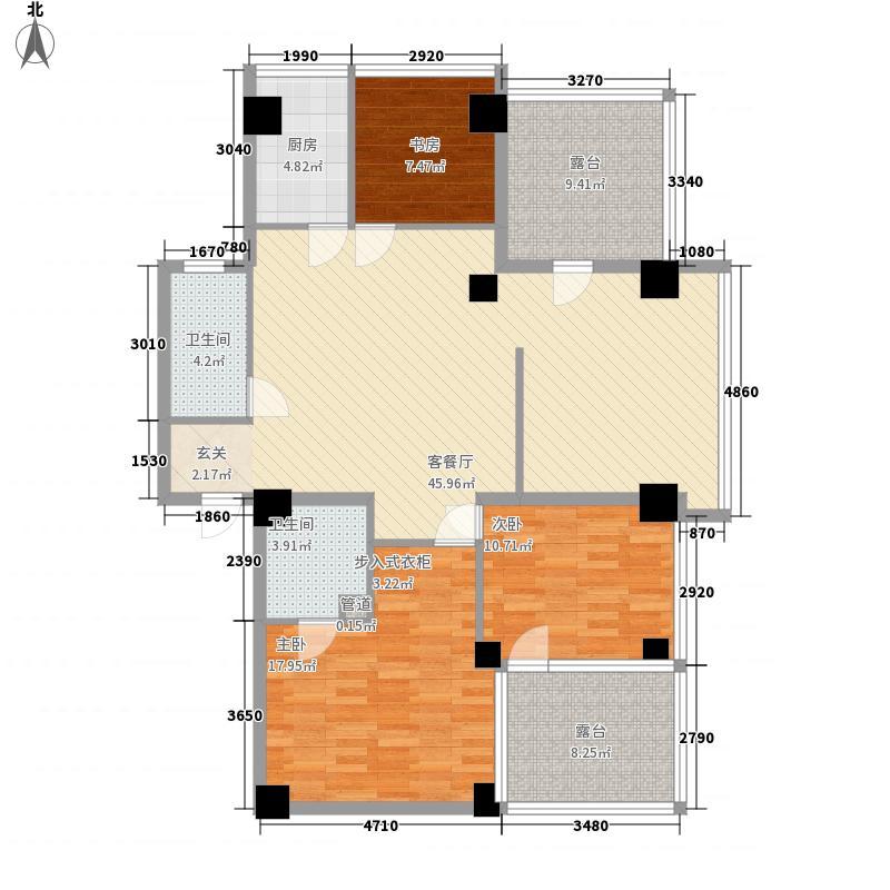 苏宁生活广场162.00㎡A栋、B栋H户型3室2厅2卫1厨