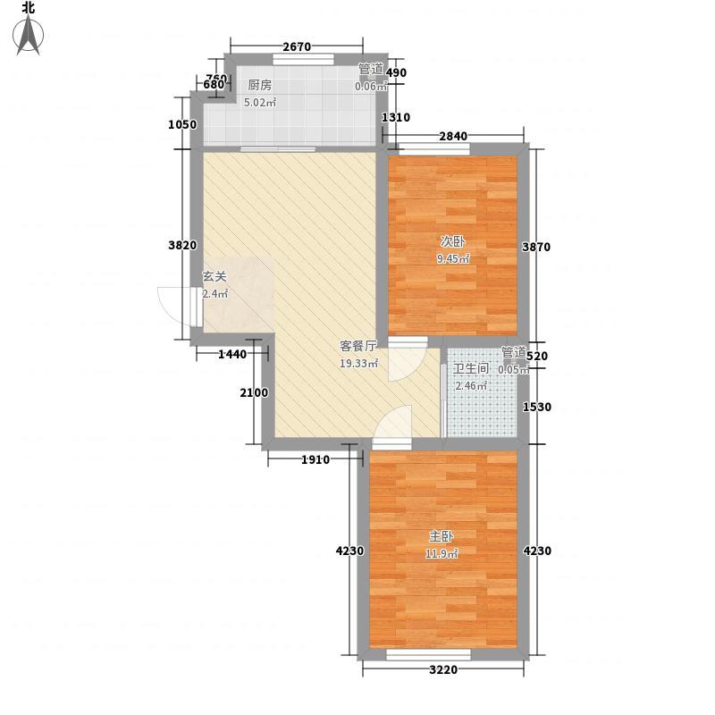 华大城二期C1#C6#楼D3户型
