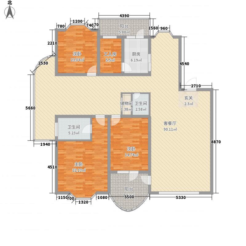 静怡家园146.52㎡静怡家园户型图户型3室1厅2卫1厨户型3室1厅2卫1厨