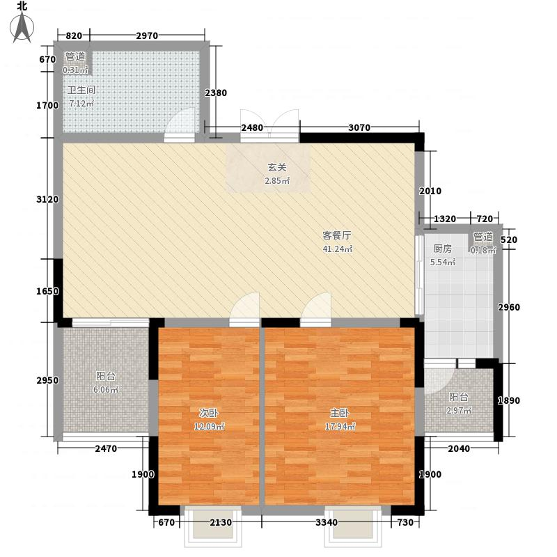 水果湖社区108.38㎡水果湖户型2室2厅1卫1厨