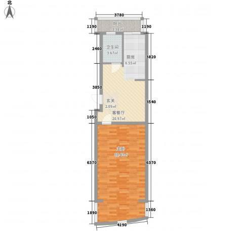 好景山庄1室1厅1卫0厨61.00㎡户型图