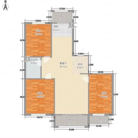 假日蓝湾3室1厅1卫0厨110.00㎡户型图