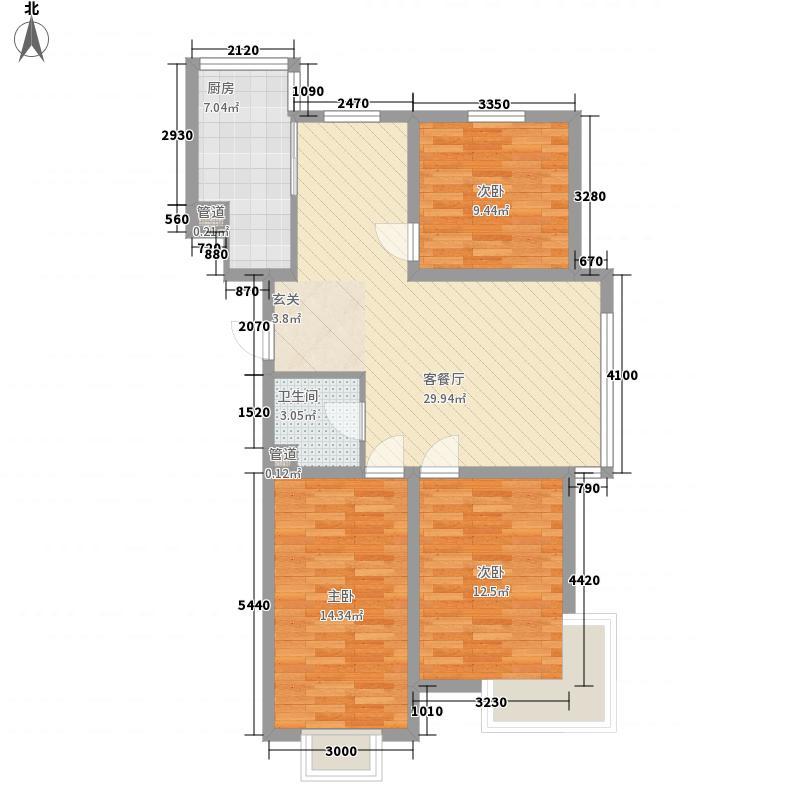 假日蓝湾118.29㎡假日蓝湾户型图户型23室2厅1卫户型3室2厅1卫