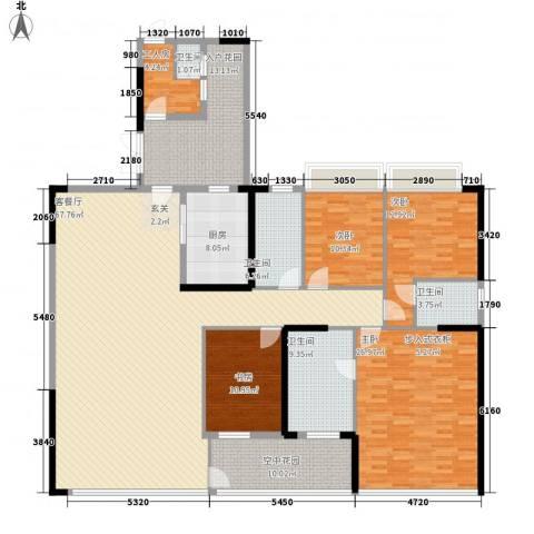 市桥华海大厦4室1厅4卫1厨257.00㎡户型图