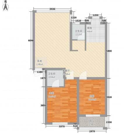 芙蓉苑2室1厅2卫0厨100.00㎡户型图