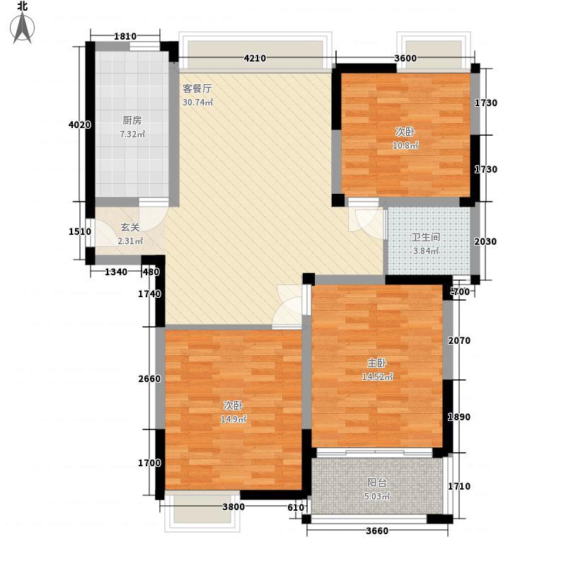 香槟花园123.00㎡香槟花园户型图户型D3室2厅1卫1厨户型3室2厅1卫1厨