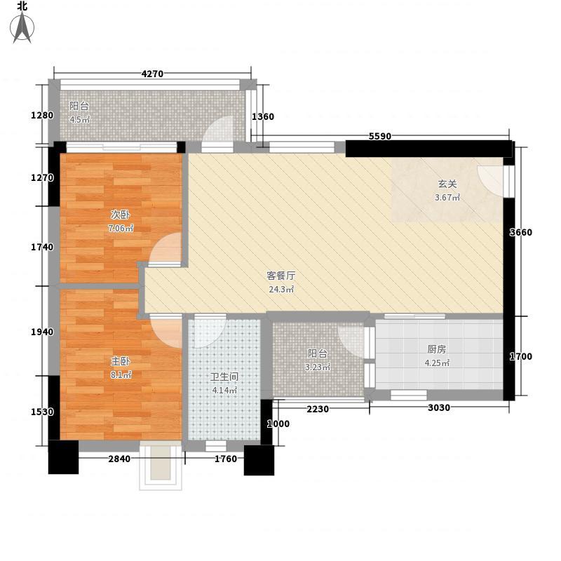 缤城乐家82.59㎡缤城乐家-Y3-03单位户型10室