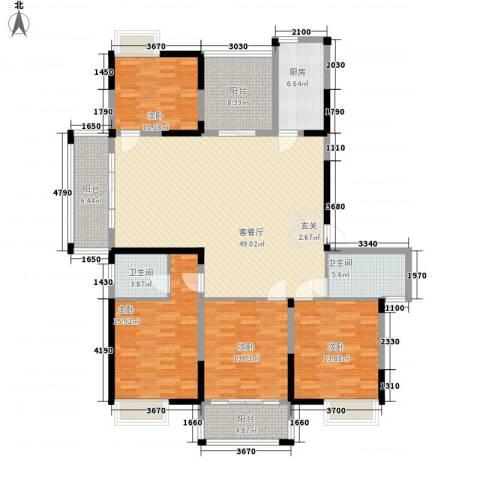 香槟花园4室1厅2卫1厨196.00㎡户型图