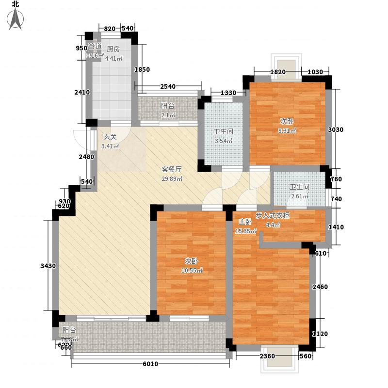 鹅湖一号125.00㎡鹅湖一号户型图k户型3室2厅2卫户型3室2厅2卫