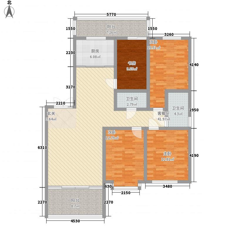 鑫亿城172.53㎡172.53平方米户型4室2厅2卫1厨