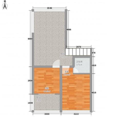 芙蓉苑2室0厅1卫0厨70.00㎡户型图