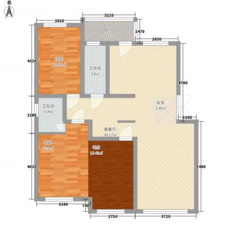 芙蓉苑2室1厅2卫0厨125.00㎡户型图