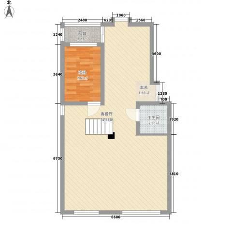 芙蓉苑1室1厅1卫0厨90.00㎡户型图