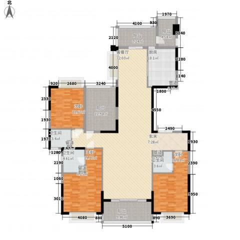 天骄御峰3室1厅3卫1厨178.60㎡户型图