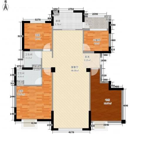 迁安碧桂园4室1厅2卫1厨110.03㎡户型图