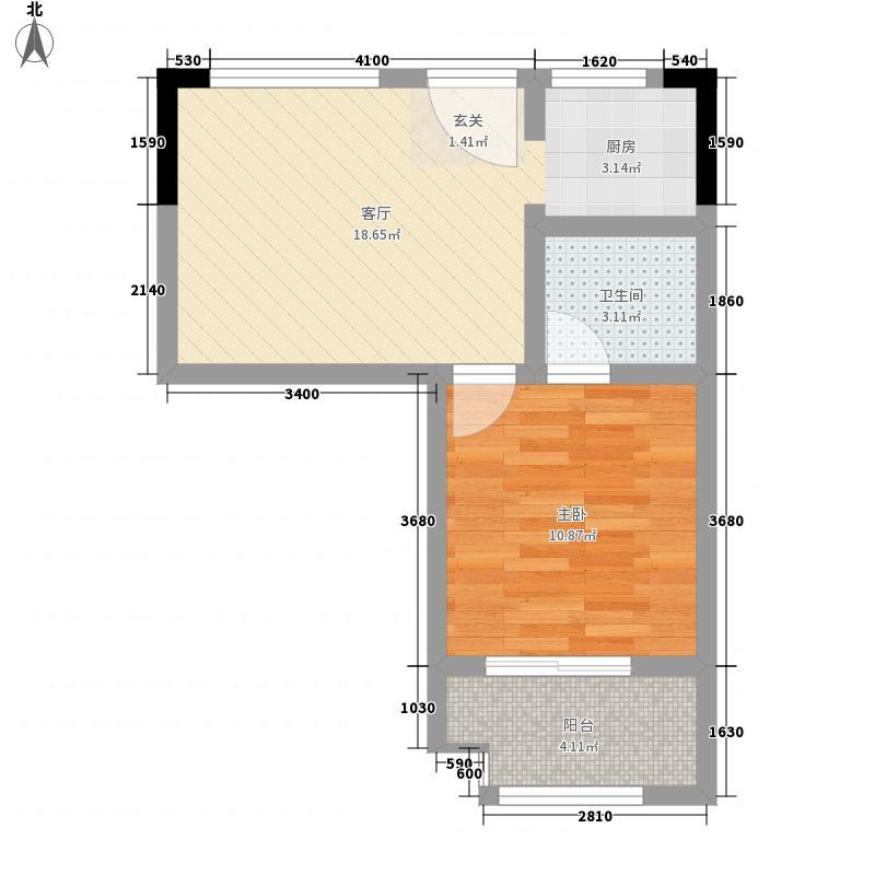 康乃馨国际老年生活示范城53.00㎡C1户型53㎡户型1室1厅1卫