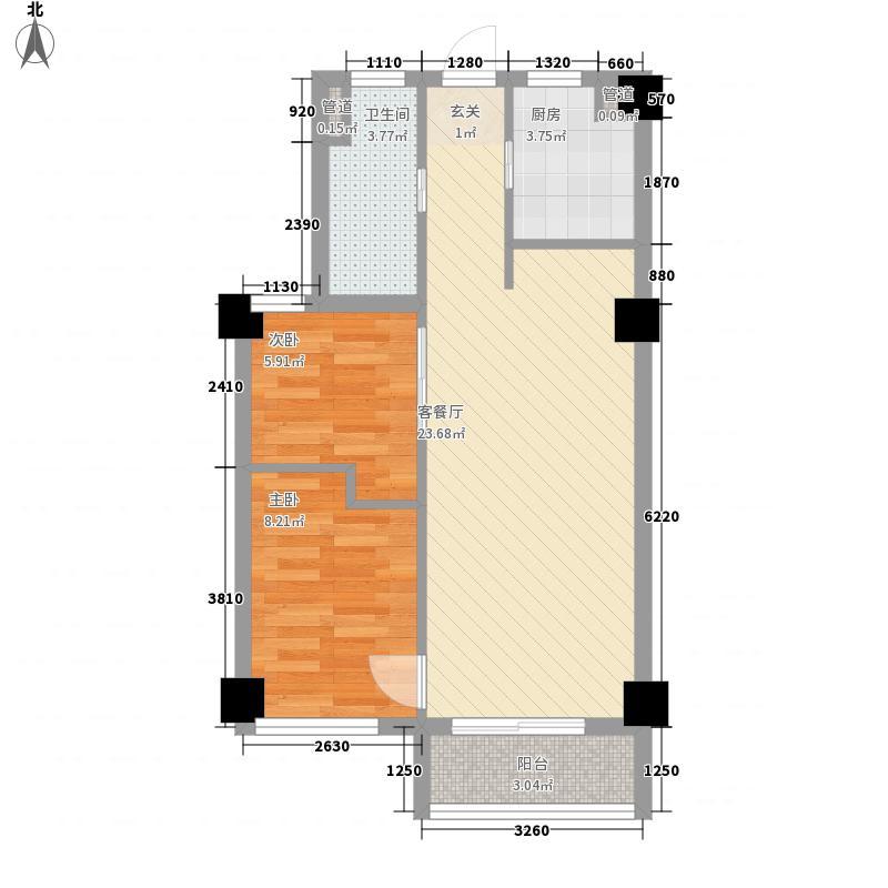 平桥社区65.00㎡平桥小区户型2室