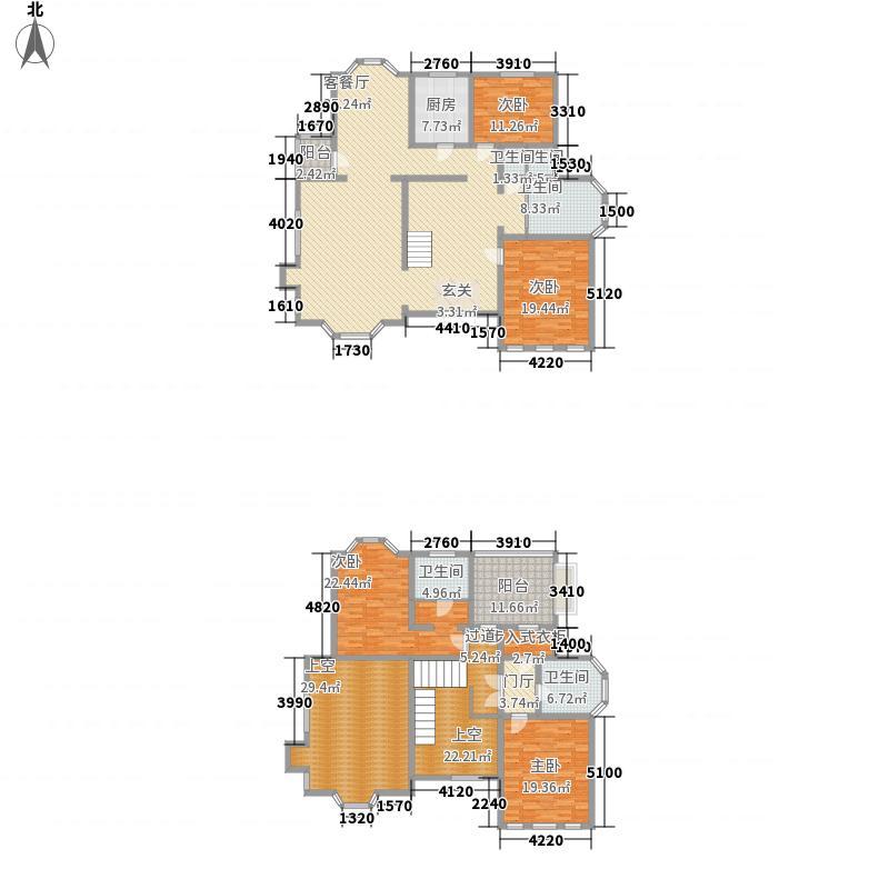 美芦庄园256.29㎡C2户型 4室3厅户型4室3厅