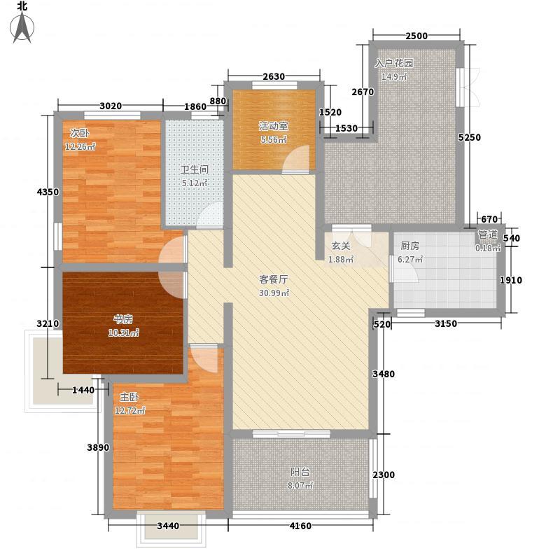 滨湖世纪城137.70㎡滨湖世纪城户型图8区6#22#(3-18层)(售完)4室2厅2卫1厨户型4室2厅2卫1厨
