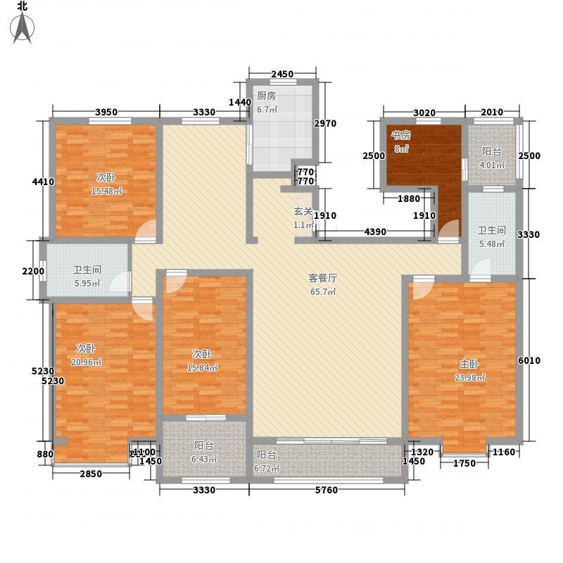 天嘉人和里5室1厅2卫1厨263.00㎡户型图