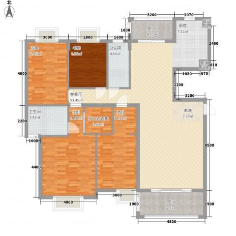 中信商业广场4室1厅2卫0厨132.90㎡户型图