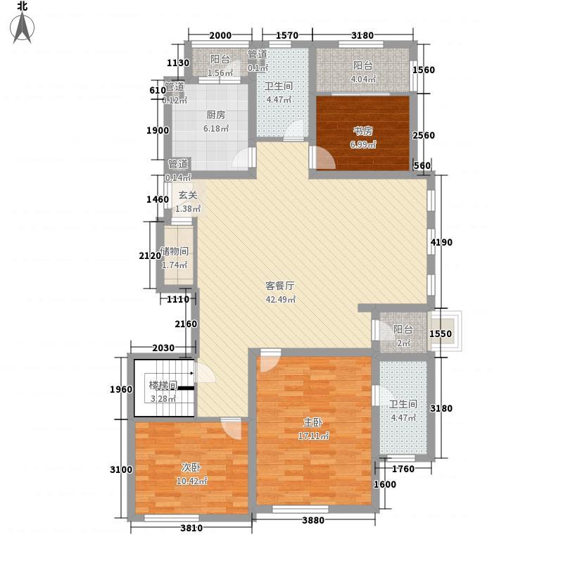 海上御景苑3室1厅2卫1厨151.00㎡户型图