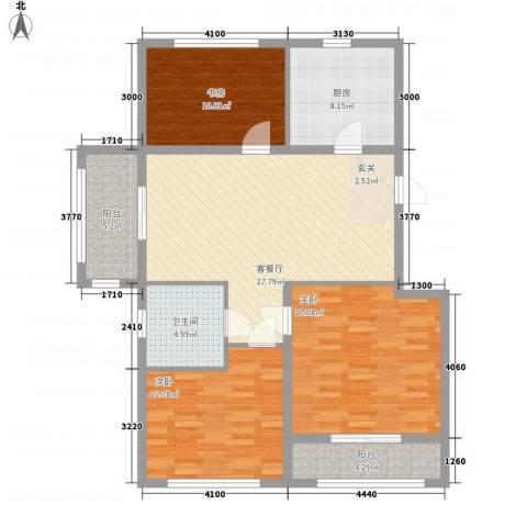 巴黎梦夏3室1厅1卫1厨129.00㎡户型图