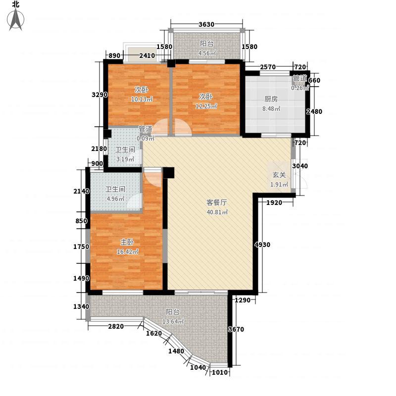 富临华城142.00㎡户型3室2厅2卫1厨